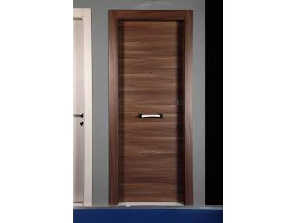 Πόρτα ασφαλείας με επένδυση Laminate χωρίς σχέδιο L001 Επενδύσεις Laminate