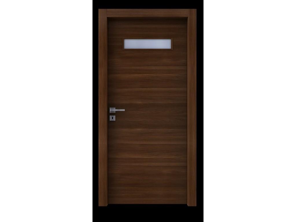 Πόρτα εσωτερική laminate σε χρώμα LK48 με άνοιγμα για τζάμι Laminate