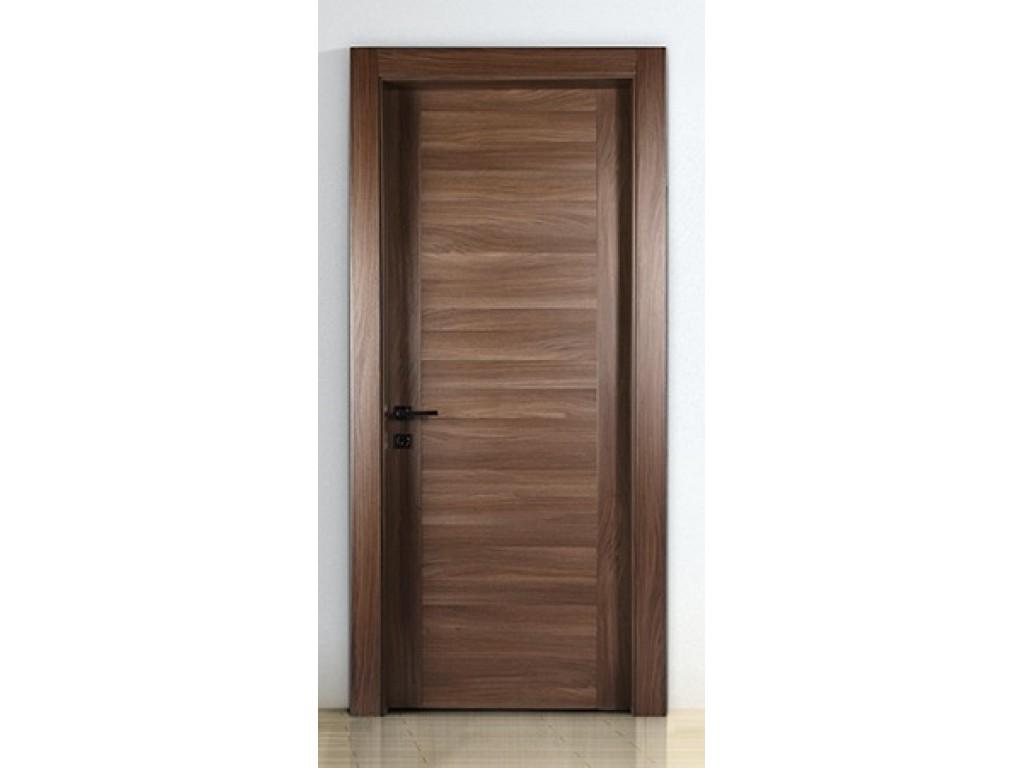 Πόρτα εσωτερική laminate σε σχέδιο PROFIL χρώμα Noce Laminate