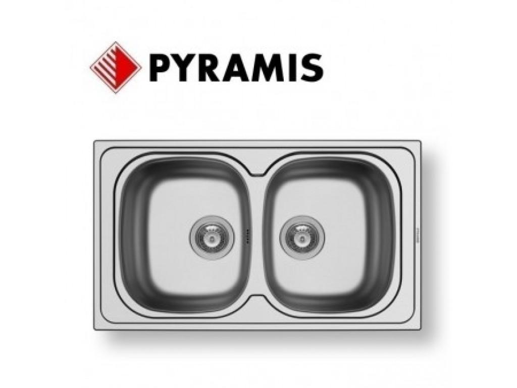 Pyramis Sparta (86X50) 2B ΝΕΡΟΧΥΤΗΣ ανοξείδωτος (100133001) Νεροχύτες