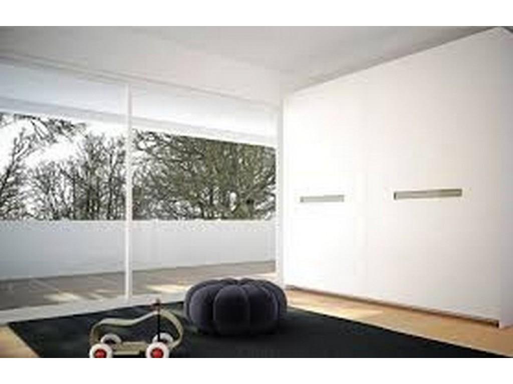 Συρόμενη ντουλάπα σειρά Coplanar σε λάκα λευκή με λαβή από τζάμι Ιδέες για ντουλάπες